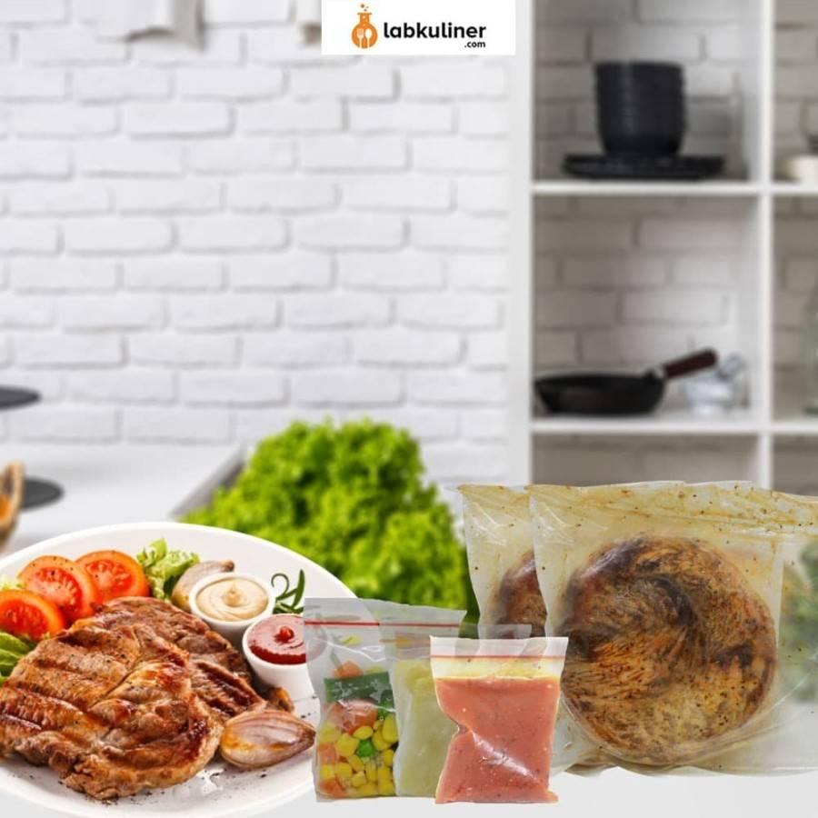 PAKET TENDERLOIN STEAK INSTANT SAPI 200GR FROZEN HALAL - Brown Sauce